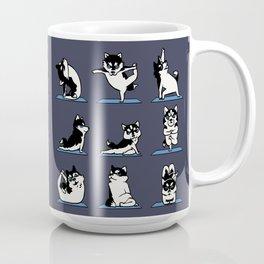 Husky Yoga Coffee Mug