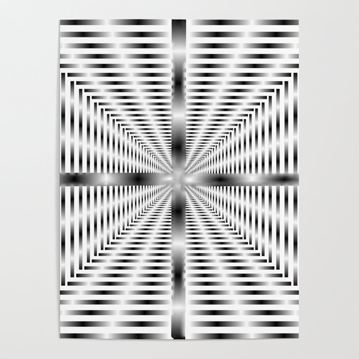 Into the Tunnel - Optical Illusion Poster
