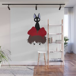 Kiki and Jiji Totem Wall Mural