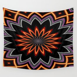 Atomic Flower Wall Tapestry