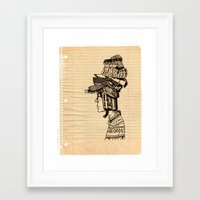 hats Framed Art Prints featuring Hats! hats! hats! by No one
