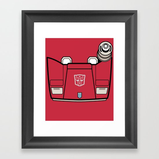 Transformers - Sideswipe Framed Art Print