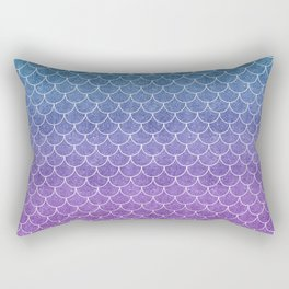 Mermaid Scales in Cotton Candy Rectangular Pillow