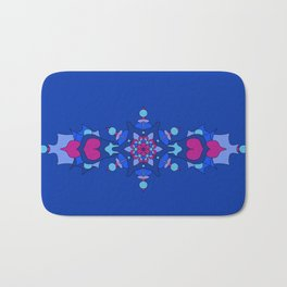 Mystic Dragon Heart - Blue Bath Mat