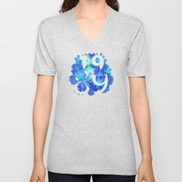 Blue Flower 1989 Unisex V-Neck