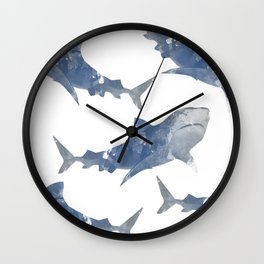 The World is Full of Sharks Wall Clock