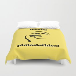 Feeling Philoslothical Duvet Cover