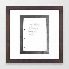 paper escape Framed Art Print