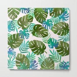 Monstera/watercolor painting/Floral/Summer/Tropical Metal Print