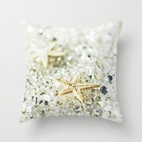 starfish Throw Pillows featuring Starfish by Monika Strigel