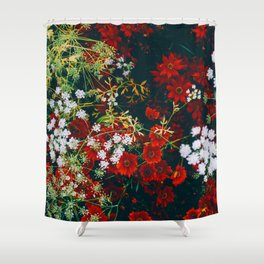 The Flower Bed (Color) Shower Curtain