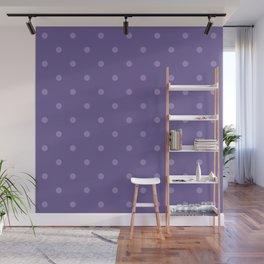 Ultra violet polka dot pattern Wall Mural