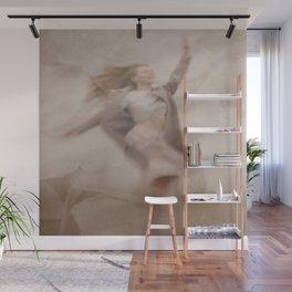 Jumping woman Wall Mural