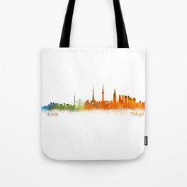 Tokyo City Skyline Hq V2 Tote Bag