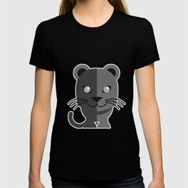 oneechan no kuro neko black cat kitten panther T-shirt