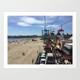 Santa Cruz Beach Boardwalk April 26, 2015 Art Print
