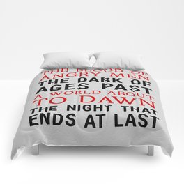 Red and Black Comforters