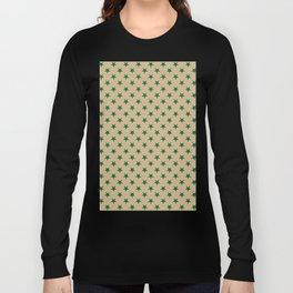 Cadmium Green on Tan Brown Stars Long Sleeve T-shirt