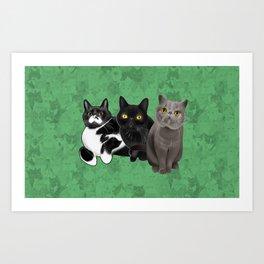 Poohkie, Mer, and Bart Art Print
