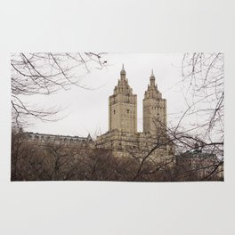 Winter in New York with the view of The San Remo apartment Rug