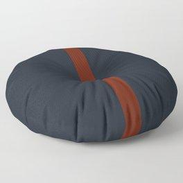 vermilion line Floor Pillow