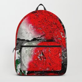 TREE RED WOLF WHITE Backpack