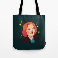 mulder Tote Bags featuring Mulder No by fin apollo