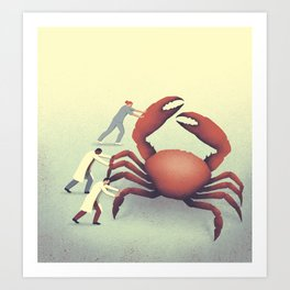 The big crab Art Print