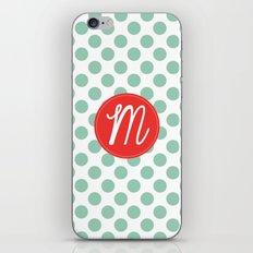Monogram Initial M Polka Dot iPhone & iPod Skin