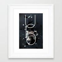 ufo Framed Art Prints featuring UFO by Echo Designlab
