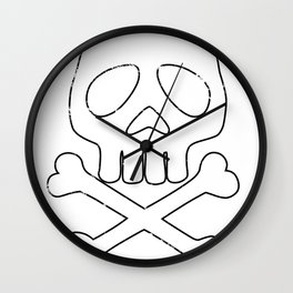 Anime space Pirate dirty Wall Clock