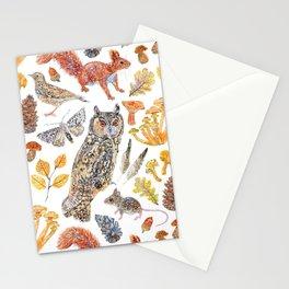 Autumn Wildlife Pattern Stationery Cards