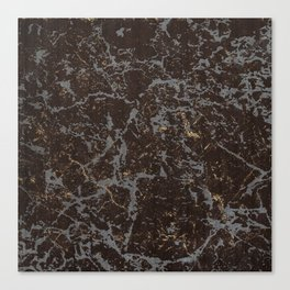 Crystallized gold stone texture Canvas Print