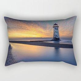 Sunset at Talacre Lighthouse Rectangular Pillow
