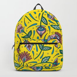 Botanicals Yellow Backpack
