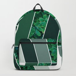 Green Herringbone Backpack