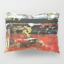 Jacksonville Orange Abstract Painting Pillow Sham