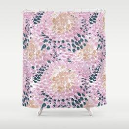 Sunflower Burst Pink Shower Curtain