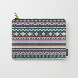 Colorful Aztec Tribal Pattern Carry-All Pouch