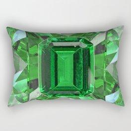 EMERALD GREEN MAY BIRTHSTONES ART Rectangular Pillow