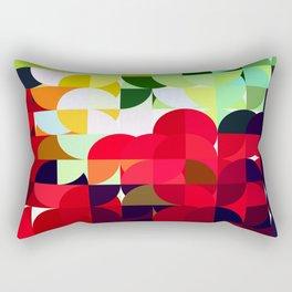 Mixed Color Poinsettias 2 Abstract Circles 1 Rectangular Pillow