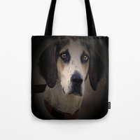 the hound Tote Bags featuring Hound by Doug McRae