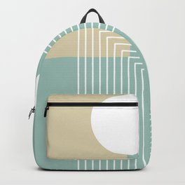 White Sun - Geometric Mid-Century Minimalist Backpack
