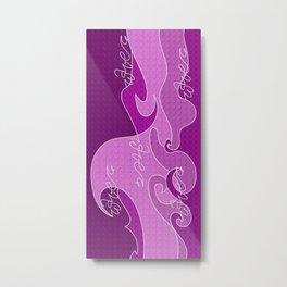 Waves V fuchsia colors Metal Print