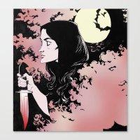 allison argent Canvas Prints featuring Allison Argent by KissingCullens