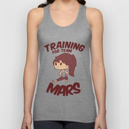 Training for Team Mars Unisex Tank Top
