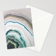 Green Agate #1 Stationery Cards