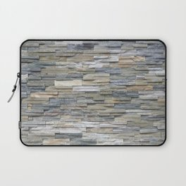 Gray Slate Stone Brick Texture Faux Wall Laptop Sleeve