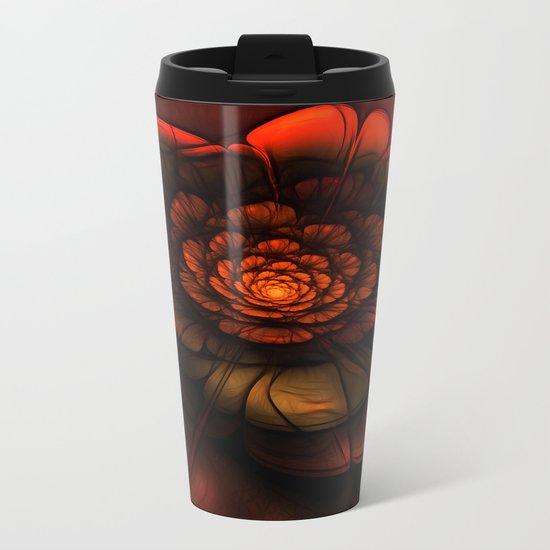 Neon Flower Metal Travel Mug