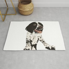 English Springer Spaniel Dog b/w multi Rug